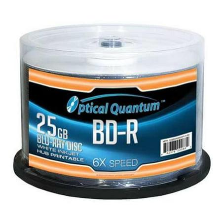 Optical Quantum OQBDR06WIP-H-50 50 Pack 6X 25GB BD-R Blu-ray