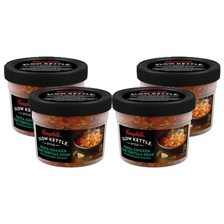 (3 Pack) Campbell's Slow Kettle Style Fiesta Chicken Lime Tortilla Soup with White Meat Chicken, 15.5 oz.