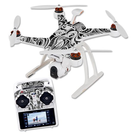Skin Decal Wrap for Blade Chroma Quadcopter Drone Black Vintage