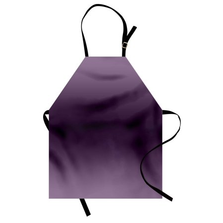 Ombre Apron Hollywood Glam Show Inspired Color Ombre Design Abstract Representation Digital Image, Unisex Kitchen Bib Apron with Adjustable Neck for Cooking Baking Gardening, Purple, by Ambesonne - Hollywood Bowl Halloween Show