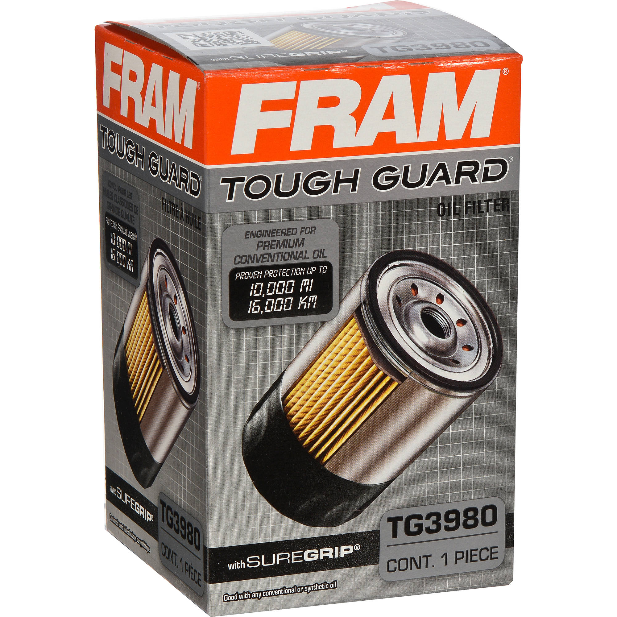 FRAM Tough Guard Oil Filter, TG3980
