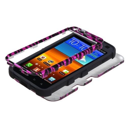 Insten Zebra Skin Pink Blk TUFF Hybrid Hard Shockproof Case For SAMSUNG D710 Epic 4G Touch Galaxy S2 4G