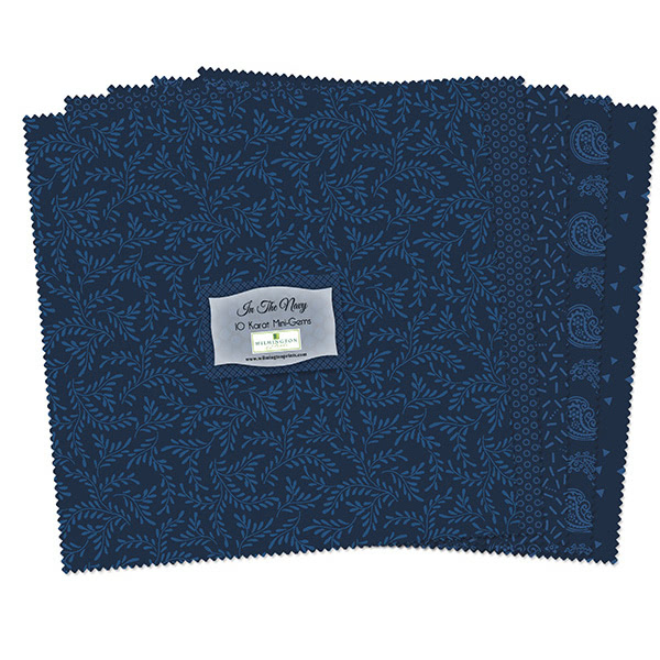 Wilmington Prints In The Navy Essentials 10 Karat Crystals 24 Ten Inch Squares