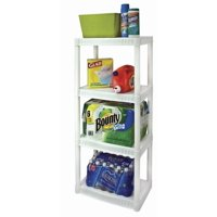 Walmart.com deals on Plano 22-inchW x 14-inchD x 48-inchH 4-Shelf Shelving Unit