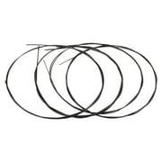 Alice AU046BK Series Ukulele Ukelele Uke Strings Set(A-E-C-G) Black Modified Nylon for Tenor Ukulele AU046BK-T