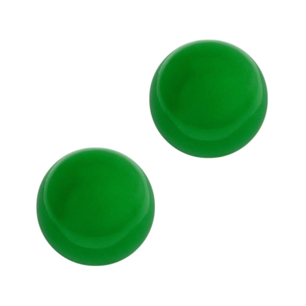 8mm Stunning Round Green Jadeite on 925 Sterling Silver Earring Studs