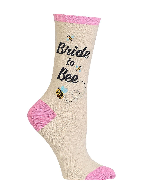 Bride to Bee Crew Socks