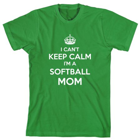 I Can't Keep Calm I'm A Softball Mom Men's Shirt - ID: 693