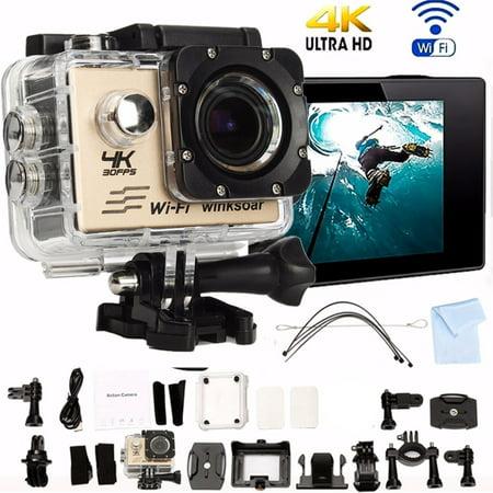 Winksoar SJ8000 Waterproof 4K HD Sports Action Mini DV Camera WiFi 2.0 LCD 170° Wide Angle 2-inch Screen