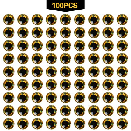 100pcs 3mm - 12mm 3D Epoxy Fishing Eyes Pupil Fishing Lure Eyes for Making Fishing Bait Fly Tying Streamers Lures Crafts Musky Lure Making