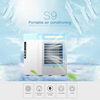 [Freedomgo] New Charging S9 Mini Portable Air Conditioning Fan Home Refrigerator Cooler UK