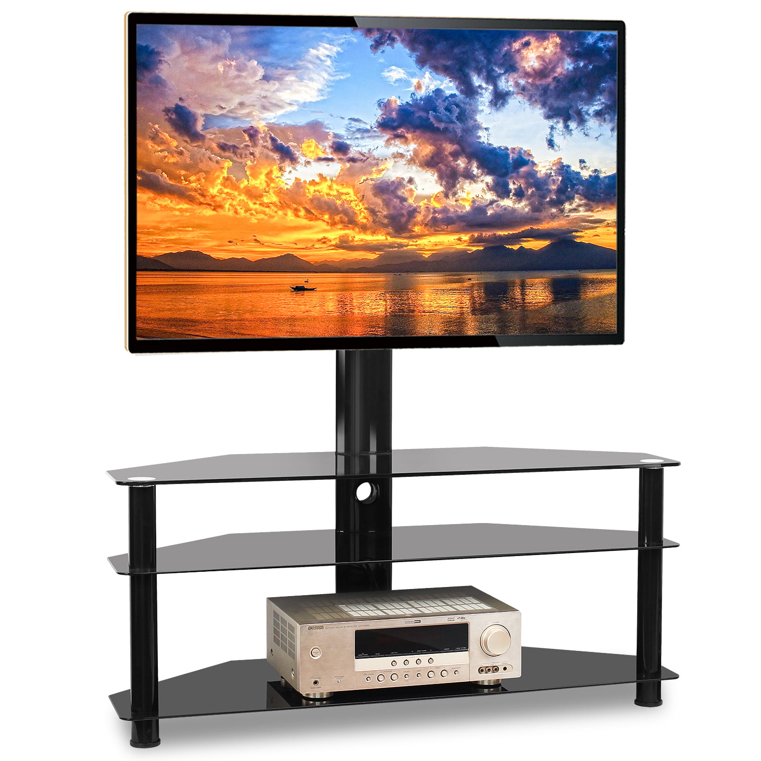 Tvon Modern Tall Tv Stands For Bedroom Entertainment Stand For Tvs Up To 70 Walmart Com Walmart Com
