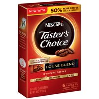 (5 Pack) NESCAFE TASTER'S CHOICE House Blend Medium Light Roast Instant Coffee 6-0.1 oz. Box