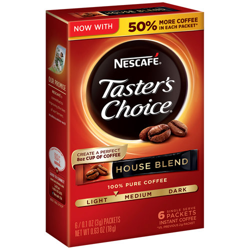 Nescafe Taster's Choice House Blend Instant Coffee Packets - 6 CT
