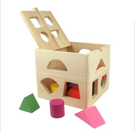 Homeholiday13 Holes Children Educational Box Wooden Building Blocks Toddler Geometric Pairing Toys Learning Tool - image 2 de 7
