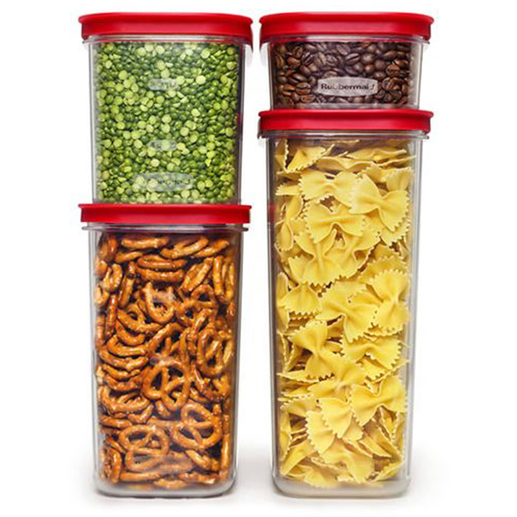 Rubbermaid Modular Canisters, Premium Food Storage Container, BPA-free Zylar, 8-piece Set