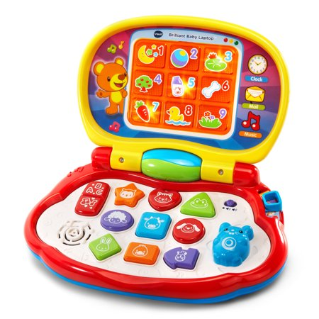 VTech Brilliant Baby Laptop Teaches Colors, Shapes, Animals and