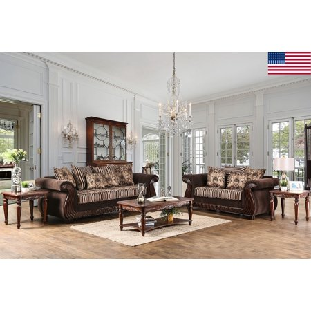 appealing traditional fabric sofas living room furniture | Formal Traditional Luxury 2pc Sofa Set Sofa And Love-seat ...