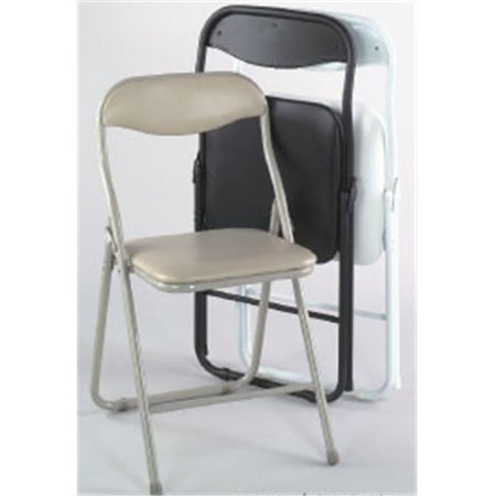 Alston quality 8007 blk metal folding chair with vinyl for Good quality folding chairs