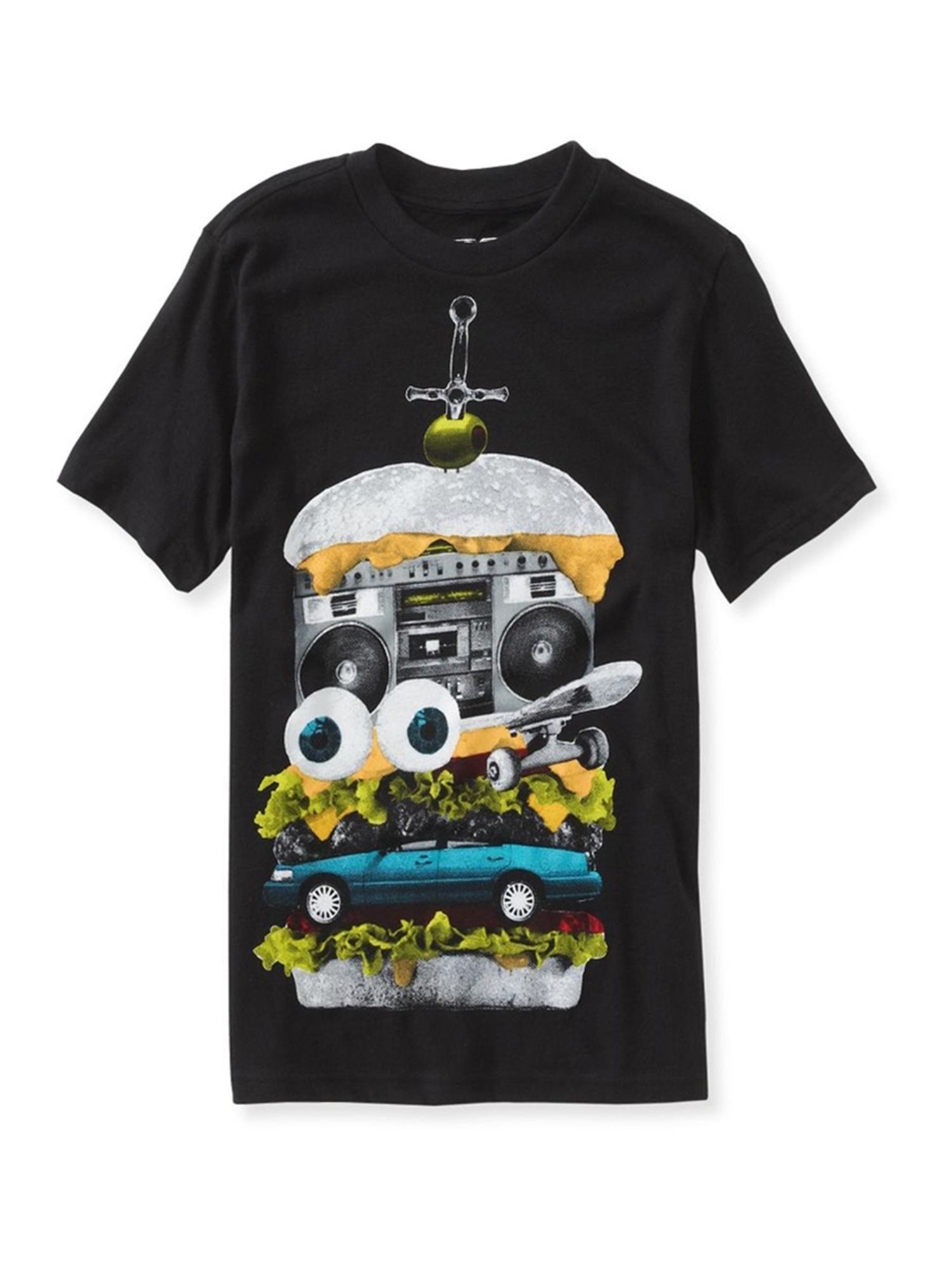 Aeropostale Boys Junk Burger Graphic T-Shirt