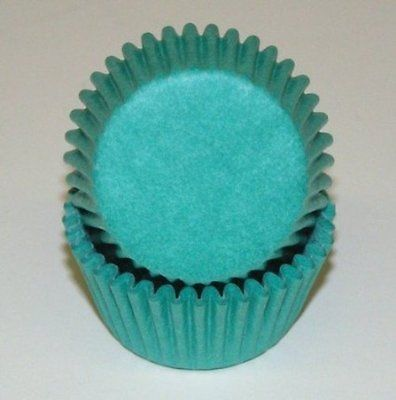 Teal Cupcake Baking Liners 50 Count - National Cake Supply