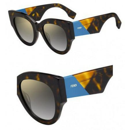 Sunglasses Fendi Ff 264 /S 0086 Dark Havana / FQ gray sf gold sp lens San Francisco 49ers Sunglasses