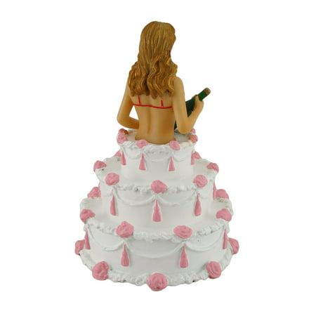 Pleasing Sexy Cake Dancer Birthday Party Girl Exotic Lady In Red Bikini Funny Birthday Cards Online Hendilapandamsfinfo