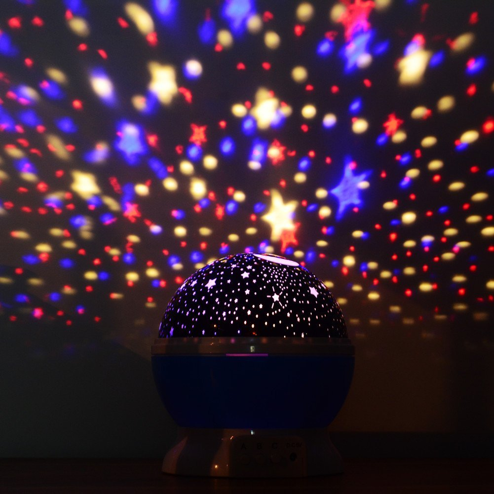 Star Projector Galaxy Nightlight Starry Projection Lamp Space Night Light  Moon And Stars Sky Ceiling Projector