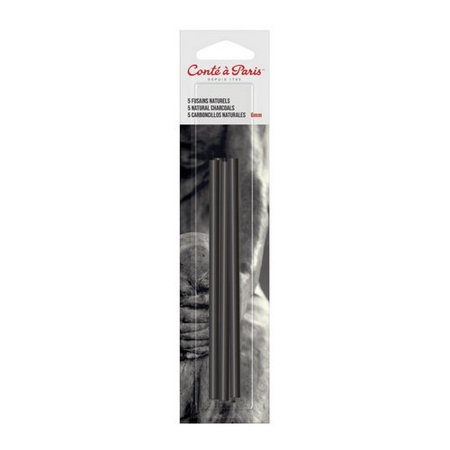 Round Charcoal (WINSOR & NEWTON / COLART 50091 CONTE NATURAL CHARCOAL 3 PIECE ROUND)