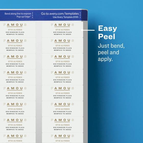 Avery Easy Peel Return Address Labels Sure Feed Technology