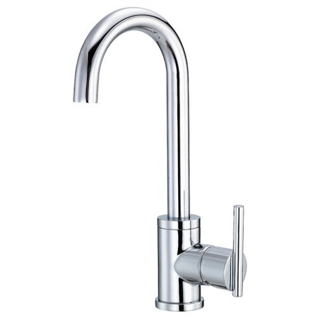 Danze Parma Single Handle Kitchen Faucet with Side Spray Danze Parma Stainless Steel