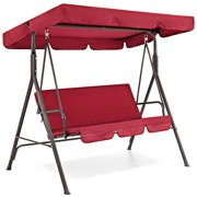 lzndeal 3 Seat Swing Canopies Seat Cushion Cover Set Patio Swing Chair Hammock Replacement Waterproof Garden New