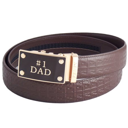 FEDEY Signature Leather Ratchet Belts for Men, No1 DAD Automatic