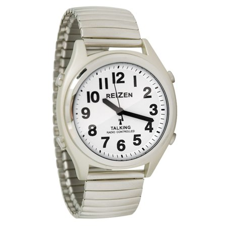 reizen talking atomic watch white faceblack numbers