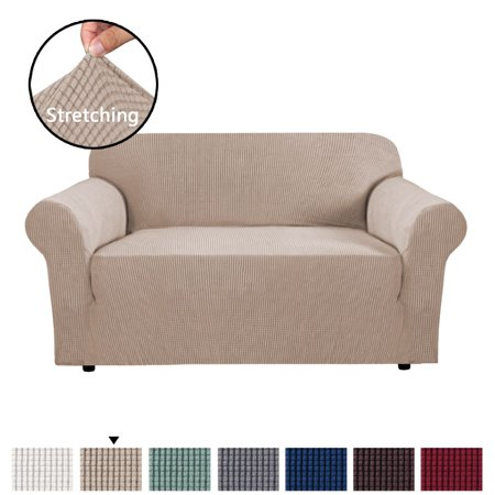1 Piece Sofa Cover for Loveseat Machine Washable Jacquard Spandex Sofa  Slipcover Furniture Cover / Protector for 2 Cushion Couch, Soft Stretch  Skid ...