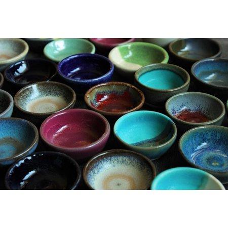 LAMINATED POSTER Bowls Shades Of Colorful Ceramics Design Poster Print 24 x 36 ()