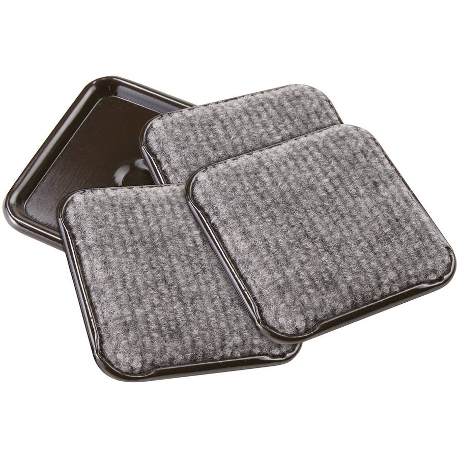 "Waxman Consumer Group 4291995N 2-1/2"" Gray Square Caster Cups, 4 Count"
