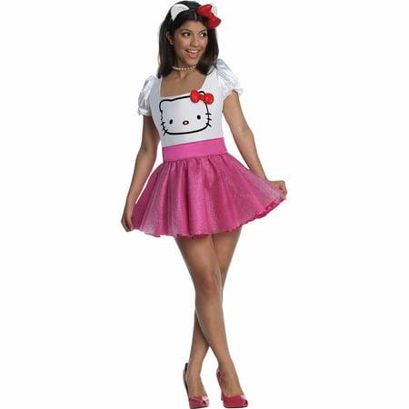 Hello Kitty Pink Adult Halloween Costume