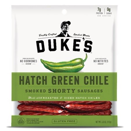 (3 pack) Duke's Hatch Green Chile Smoked Shorty Sausages, 5 Oz