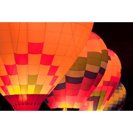 Glowing Balloons I, Fine Art Photograph By: Kathy Mahan; One 36x24in Fine Art Paper Giclee Print
