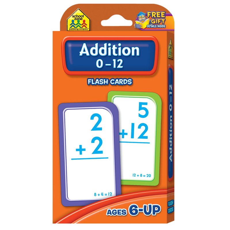 (12 PK) ADDITION 0-12 FLASH CARDS