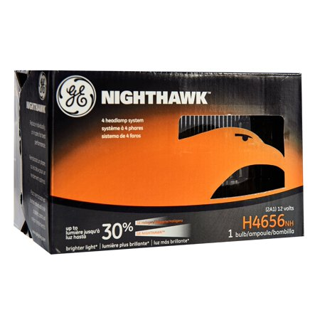 GE Lighting H4656 Halogen Sealed Beam Headlight Bulb Nighthawk Replacement, 1-Pack