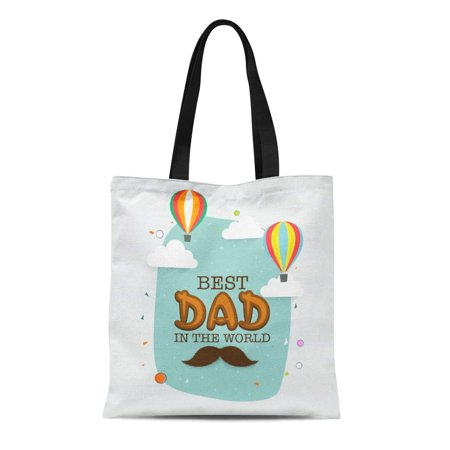 SIDONKU Canvas Tote Bag Beautiful Text Best in the World and Flying Hot Durable Reusable Shopping Shoulder Grocery