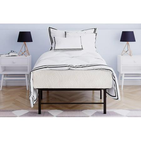 mainstays 10 inch memory foam mattress metal platform bed multiple sizes. Black Bedroom Furniture Sets. Home Design Ideas