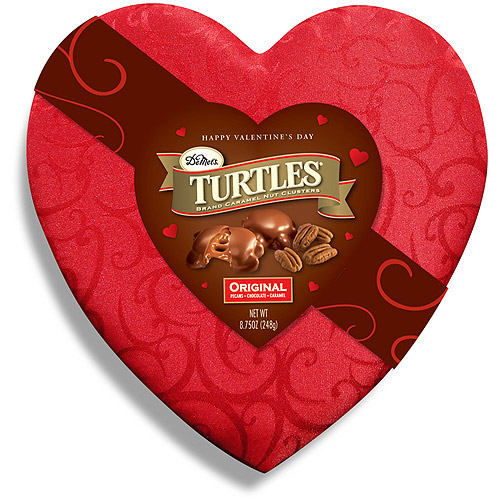 Turtles Candy In Valentine Satin Heart Box 8 75 Oz Walmart Com