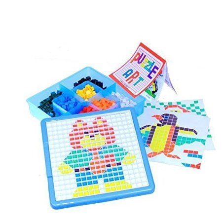 Mosaic Puzzle Kit Jigsaw Educational Puzzle for Kids, Contains 490 Pieces in 7 Different Colors ()