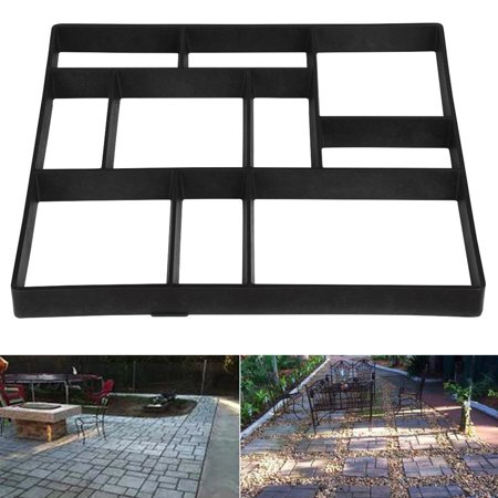 10 Grid Plastic Driveway Concrete Stone Mold Paving Pathway Stepping Stone