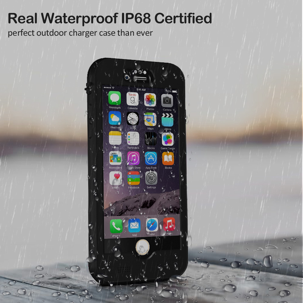 iPhone 8 Plus/7 Plus/6s Plus/6 Plus Waterproof Battery Case, IP68 Waterproof Slim Portable Power Bank with 4800mAh High Capacity - Fastcharging - 150% Extra Battery Life
