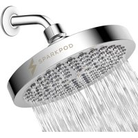 SparkPod 6 Shower Head High Pressure Rain Luxury Modern Chrome Look