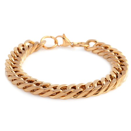 Gold Plated Bracelet Stainless Steel Gift Jewelry for Women Size 8